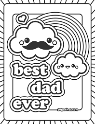 best dad coloring pages