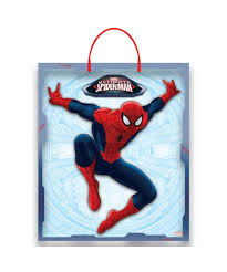 ultimate spiderman halloween trick or treat candy kids bag