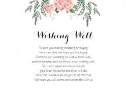 wedding registry card wording wishing well gift registry card