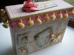 baby girl scrapbook album ooak handmade hanglar stanglar magnolia baby boy girl scrapbook