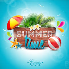 summer time background palm tree design vector free download