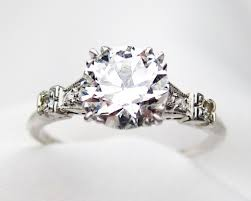 deco engagement ring deco 1 77 ct engagement diamond ring platinum diamond