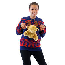 3d sweater navy 3d reindeer moose sweater walmart com
