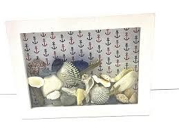 beach decor shadowbox nautical decor seashells beach bathroom