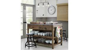 Lighting For Kitchen Islands Bluestone Reclaimed Wood Large Kitchen Island Crate And Barrel