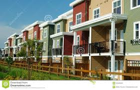Row Homes by New Colourful Homes Row Houses Royalty Free Stock Photo Image