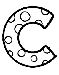 letter c coloring pages throughout fleasondogs org
