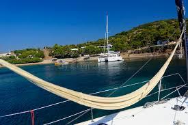 hammock on a sailing yacht stock photo image 49602435