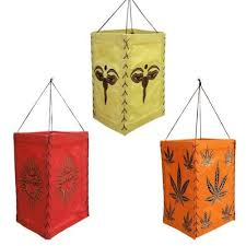Paper Hanging L Set Of 3 Printed Paper Hanging Lanterns Square Lighting Ls From