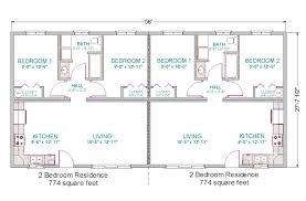 Two Family Floor Plans by Multi Family Homes Floor Plans 2643