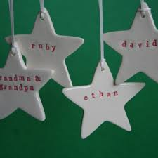 paper boat press personalised ornaments