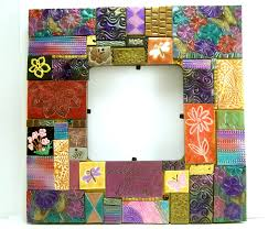 Home Decoration Handmade Mixed Midea Mosaic Picture Frame Flower Frame Home Decor Clay