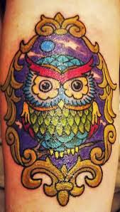 nice colorful amazing baby owl tattoo design idea golfian com