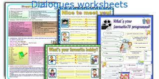english teaching worksheets dialogues