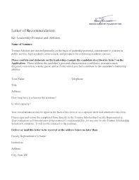 personal recommendation letter samples sample formal business