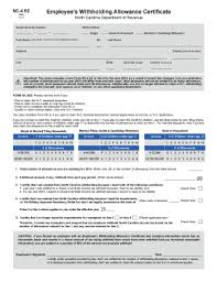 nc withholding tables 2017 2013 form nc dor nc 4 ez fill online printable fillable blank