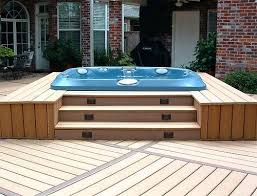 Backyard Decks Ideas Deck Plans With Hot Tub U2013 Seoandcompany Co