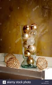 ornaments in glass vase stock photo royalty free image 3686254