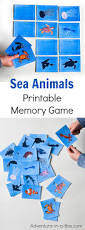 sea animals printable memory matching game for kids adventure in