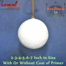 unfinished paper mache blank tree decoration
