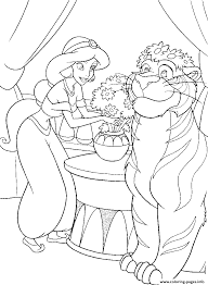 jasmine put flowers on her tiger disney princess s0239 coloring