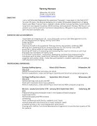 Therapist Resume Occupational Therapy Assistant Cover Resume Help Occupational