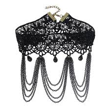 black neck choker necklace images 2018 collares sexy gothic chokers crystal black lace neck choker jpg