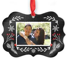 aluminum medallion photo ornament ornaments and decor