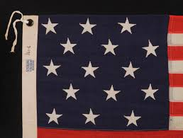 Garrison Flag Size Jeff Bridgman Antique Flags And Painted Furniture 15 Stars And
