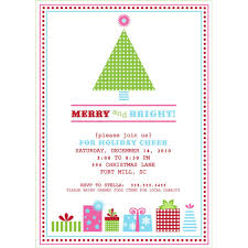 holiday invitation cards adorable holiday party invitation design with mini green christmas