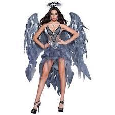 Angel Costume Halloween Fallen Angel Costume Halloween Costume Fancy Dress Ebay
