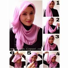 tutorial jilbab ala ivan gunawan 27 gambarnya tutorial hijab pashmina ombre terlengkap tutorial
