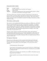 business memo format sample final draft research memo