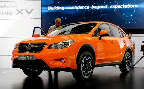 subaru orange new subaru xv compact cross over unveiled 2011 frankfurt motor