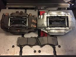 lexus isf brake pads tundra 4 piston caliper with isf 360mm rotor bracket r u0026d x