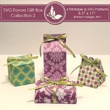 svg u0026 printable favors gift box collection 2 shery k designs