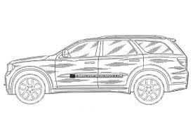 cartoon jeep drawings 2012 dodge durango suv pictured in u s patent drawings