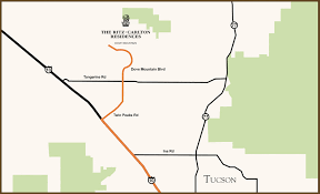 Tucson Arizona Map by Directions From Tucson The Ritz Carlton Residences Dove Mountain