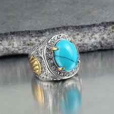 blue rings ebay images New arrival stainless steel fashion men natural oval blue stone jpg