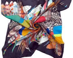 hundertwasser silk scarf rainbow scarf hand painted silk