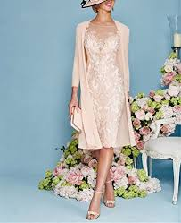 apxpf light pink women u0027s mother of the groom dresses tea length