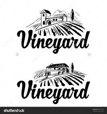 rural landscape with villa vineyard fields and hills black save to