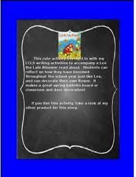 leo the late bloomer coloring page leo the late bloomer writing activity by lovetoteach tpt