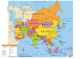 Continent Of Asia Map by Download Asia Political Map With Capitals Major Tourist