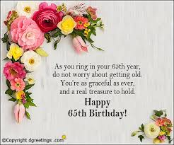 birthday cards for 60 year woman 65th birthday messages dgreetings