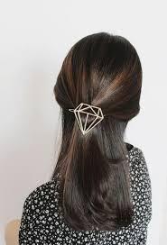 boho hair accessories diamond hair clip diamond hair barrette boho hair clip geometric ha