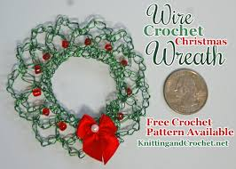 wire crochet wreath free crochet pattern knitting
