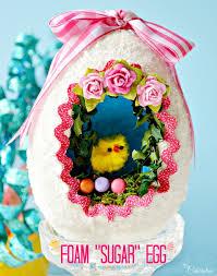 easter sugar eggs diy foam sugar egg miss celebration
