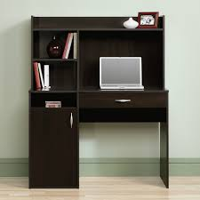 Office Desk With Hutch Storage Furniture Black Painted Wooden Corner I Shape Computer Desk With
