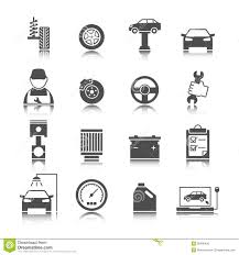 car auto service icons set stock vector image 39496406